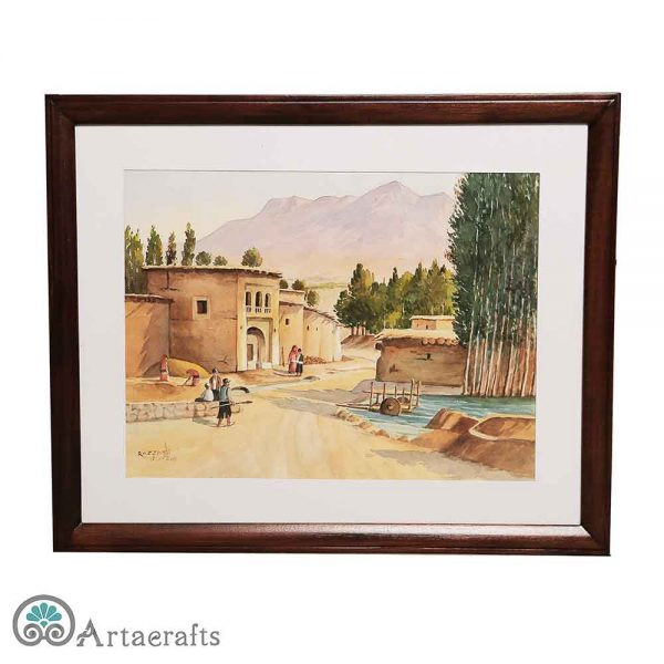 this is a picture of village watercolor