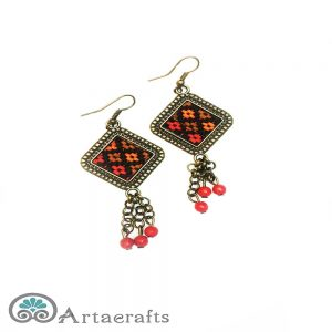 picture of a pair of handmade earrings