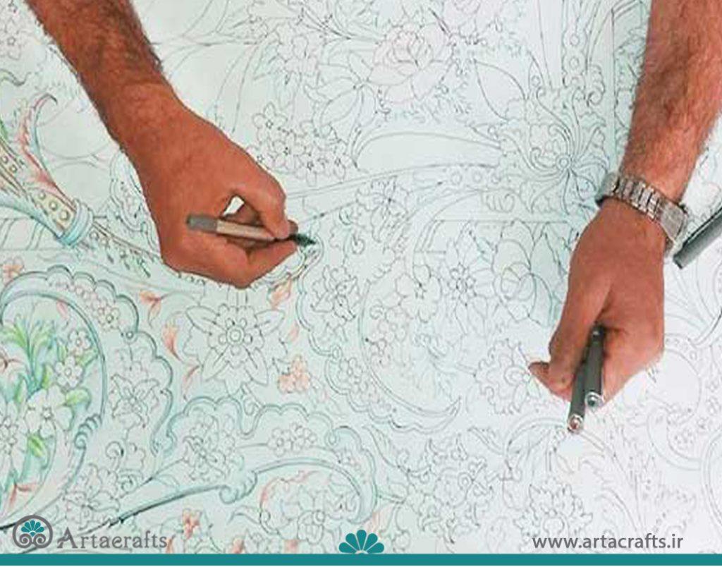 کشیدن نقشه فرش