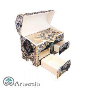 جعبه جواهرات دو درب تذهیب