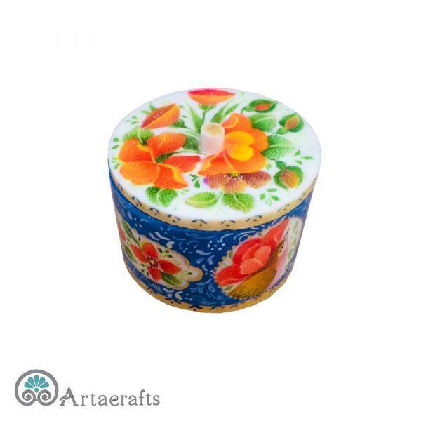 جعبه جواهر طرح گل و مرغ
