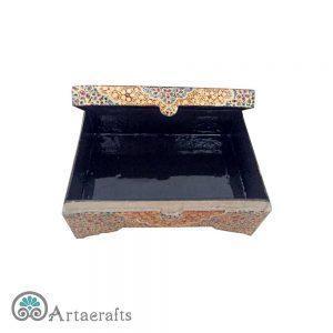 جعبه جواهر پاپیه ماشه طرح تذهیب