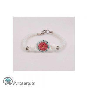 دستبند صدف تک گل